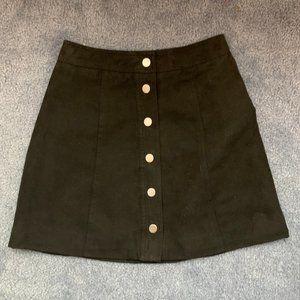 Black H&M Fuax Suede A-Line Skirt XS (0)